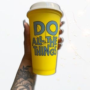 """Starbucks """"do all the things """" reusable cup"""